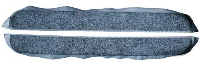 OER 1981-86 Mustang Coupe/Hatchback With Power Locks Door Panel Carpet Inserts - Blue A413062