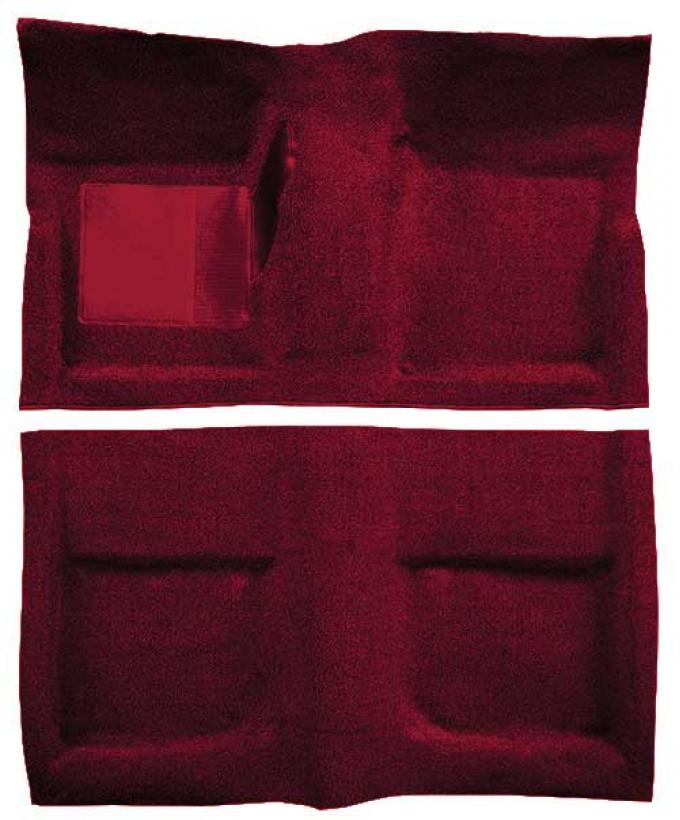 OER 1965-68 Mustang Convertible Passenger Area Loop Floor Carpet with Mass Backing - Maroon A4042B15