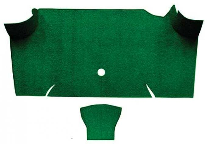 OER 1967-68 Mustang Fastback Nylon Loop Carpet Trunk Mat - Green A4085A39