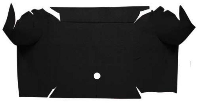 OER 1967-68 Mustang Convertible Nylon Loop Carpet Trunk Mat - Black A4081A01