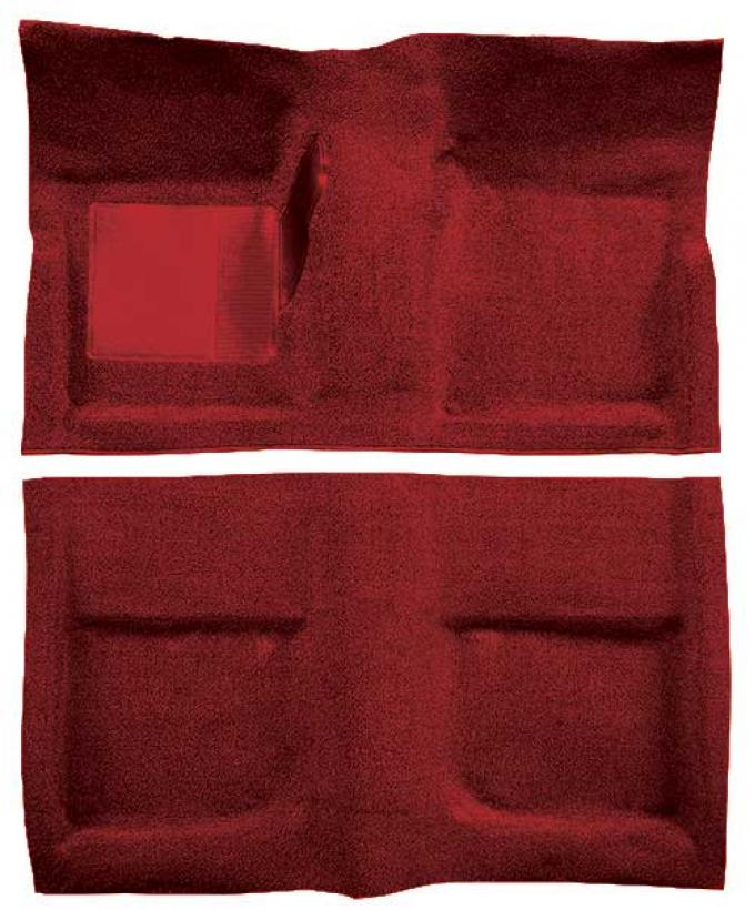 OER 1965-68 Mustang Coupe Passenger Area Loop Floor Carpet with Mass Backing - Emberglow A4040B49