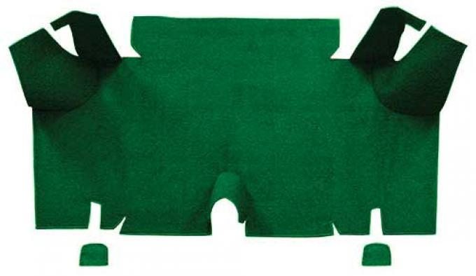 OER 1965-66 Mustang Fastback Nylon Loop Carpet Trunk Mat - Green A4073A39