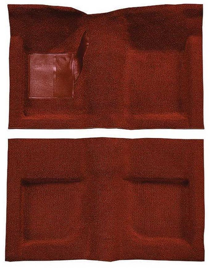 OER 1965-68 Mustang Convertible Passenger Area Nylon Loop Carpet Set with Mass Backing - Emberglow A4047B49