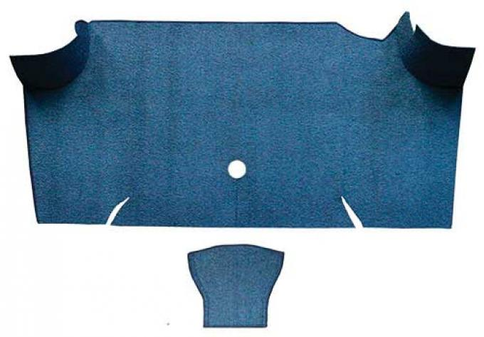 OER 1967-68 Mustang Fastback Loop Trunk Carpet Mat Only - Ford Blue A4068A62