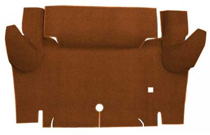 OER 1965-66 Mustang Convertible Nylon Loop Carpet Trunk Mat - Saddle A4069A24
