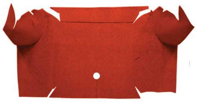 OER 1967-68 Mustang Convertible Nylon Loop Carpet Trunk Mat - Emberglow A4081A49