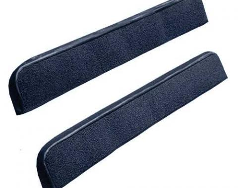 OER 1971-73 Mustang Door Panel Carpet Inserts - Dark Blue A4097A12