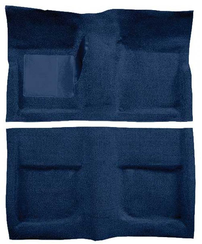 OER 1965-68 Mustang Convertible Passenger Area Loop Floor Carpet - Dark Blue A4042A12