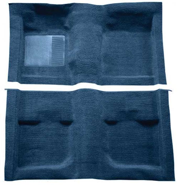 OER 1971-73 Mustang Coupe / Fastback Passenger Area Nylon Loop Carpet with Mass Backing - Medium Blue A4057B41