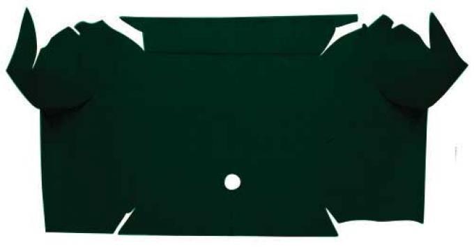 OER 1967-68 Mustang Convertible Nylon Loop Carpet Trunk Mat - Dark Green A4081A13