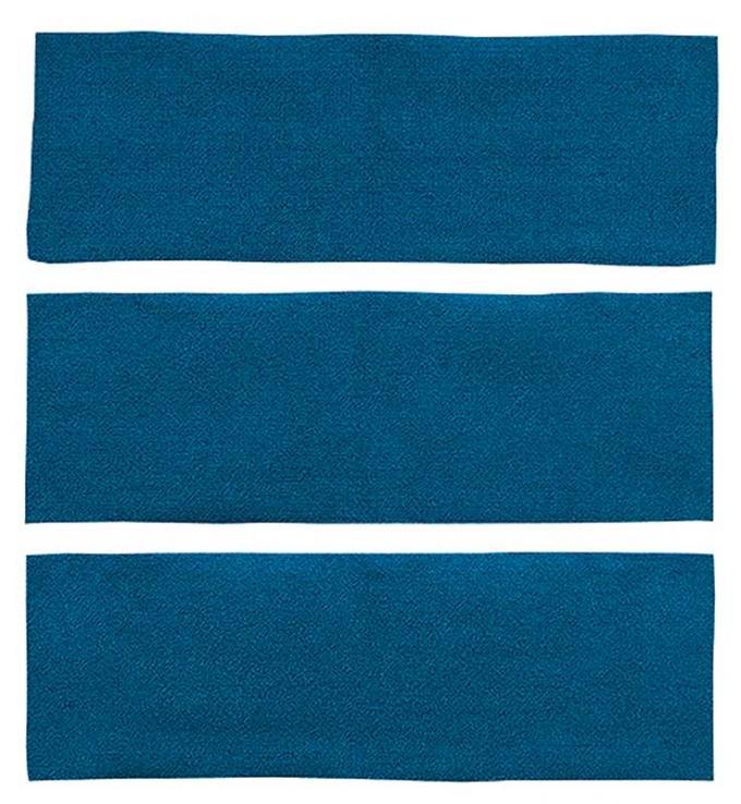 OER 1964-68 Mustang Fastback 3 Piece Fold Down Nylon Loop Carpet Set - Aqua A4039A06