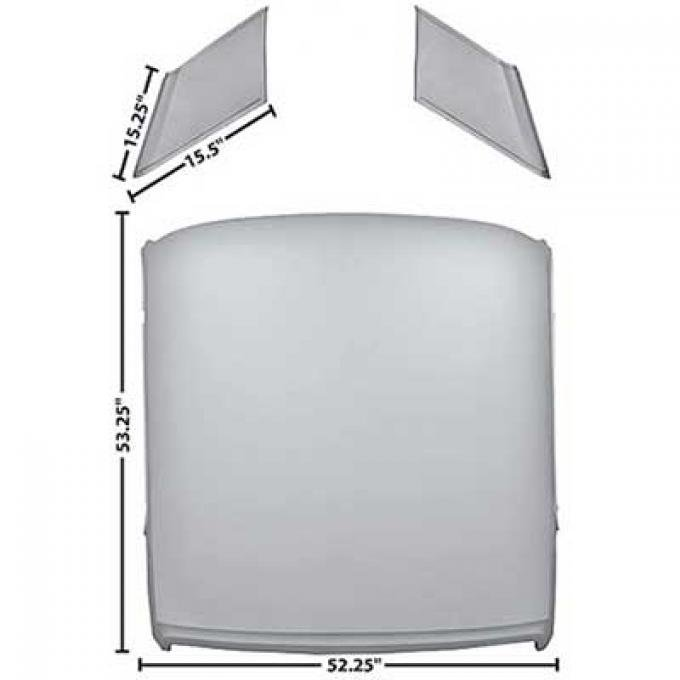 OER 1965-66 Mustang Coupe Roof Panel 50202D