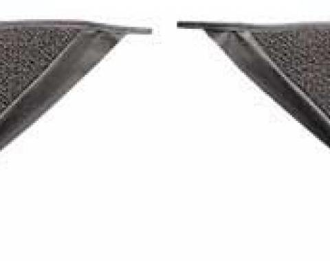 OER 1965-68 Mustang Coupe Loop Carpet Kick Panel Inserts - Parchment A4070A07