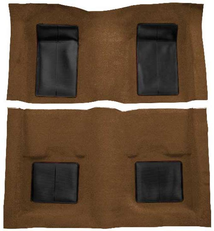 OER 1969 Mustang Mach 1 Passenger Area Nylon Loop Floor Carpet - Ginger with Black Inserts A4101A29