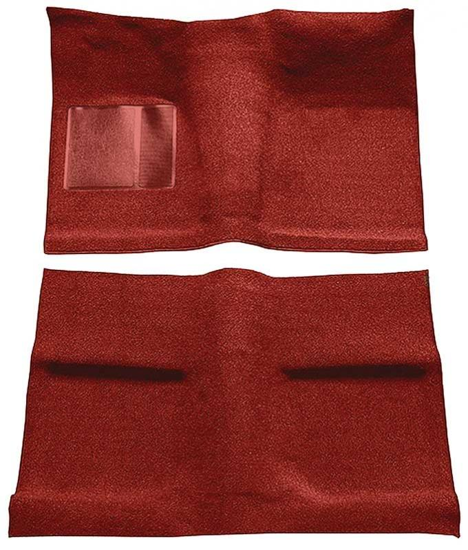 OER 1964 Mustang Coupe Passenger Area Nylon Loop Floor Carpet Set - Red A4031A02