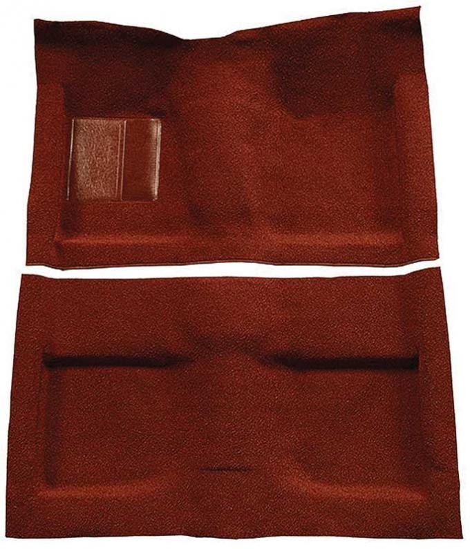 OER 1964 Mustang Convertible Passenger Area Nylon Loop Floor Carpet Set - Emberglow A4033A49