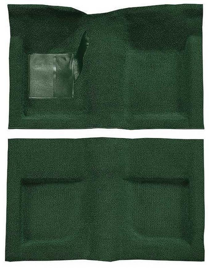OER 1965-68 Mustang Convertible Passenger Area Nylon Loop Floor Carpet Set - Green A4047A39