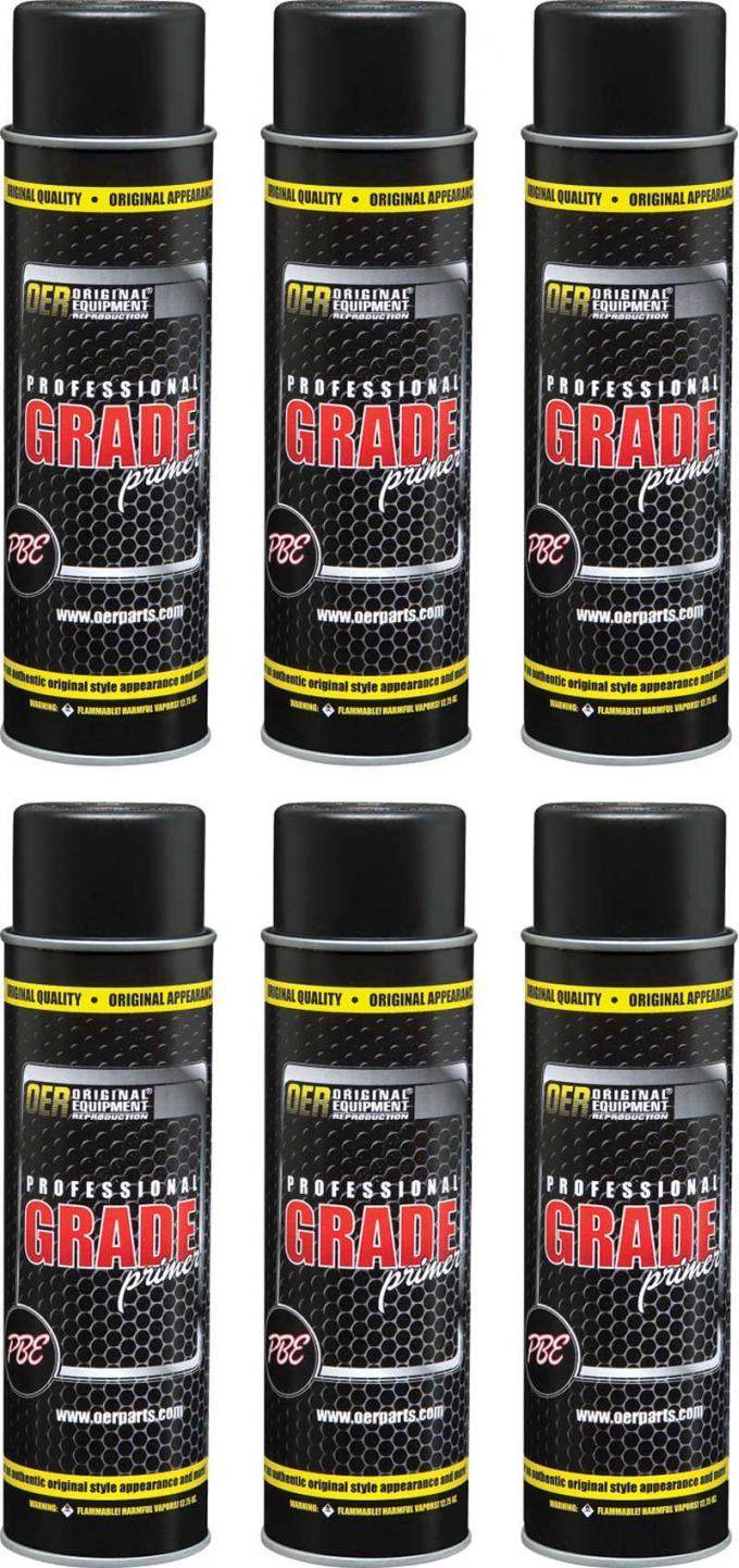 OER Gray Professional Grade High Solids Sanding Primer Case of 6 - 20 Oz Aerosol Cans *K89665