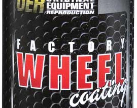 """OER Argent Silver / Green """"Factory Wheel Coating"""" Rally Wheel Paint 16 Oz Can K89325"""