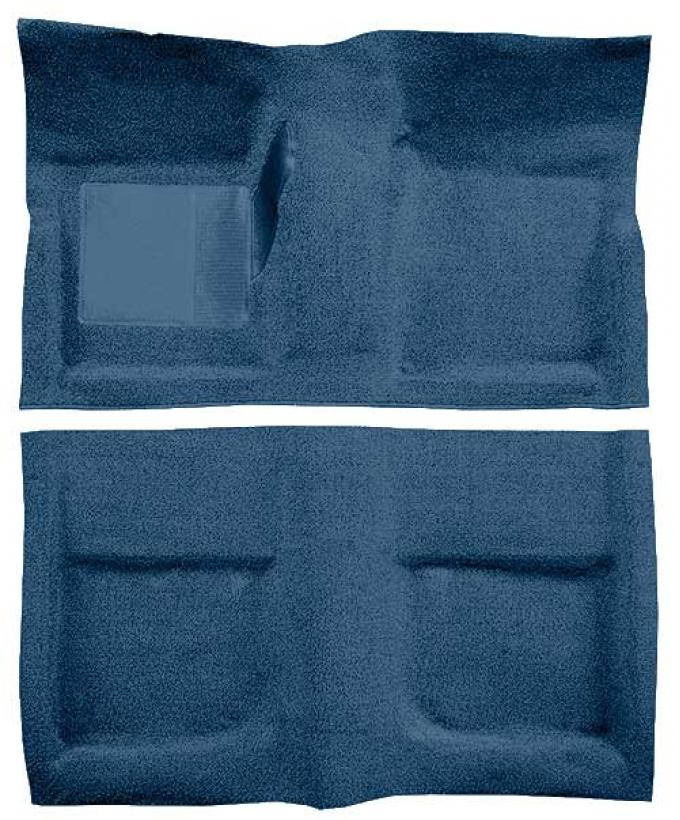 OER 1965-68 Mustang Convertible Passenger Area Loop Floor Carpet with Mass Backing - Ford Blue A4042B62