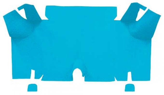 OER 1965-66 Mustang Fastback Nylon Loop Carpet Trunk Mat - Light Blue A4073A31