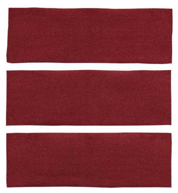 OER 1964-68 Mustang Fastback 3 Piece Fold Down Loop Carpet Set - Maroon A4038A15