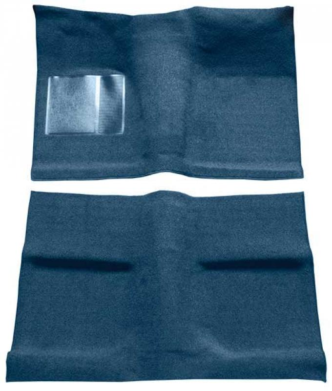 OER 1964 Mustang Coupe Passenger Area Loop Floor Carpet Set - Ford Blue A4030A62