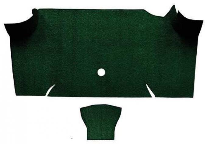 OER 1967-68 Mustang Fastback Loop Carpet Trunk Mat - Dark Green A4068A13