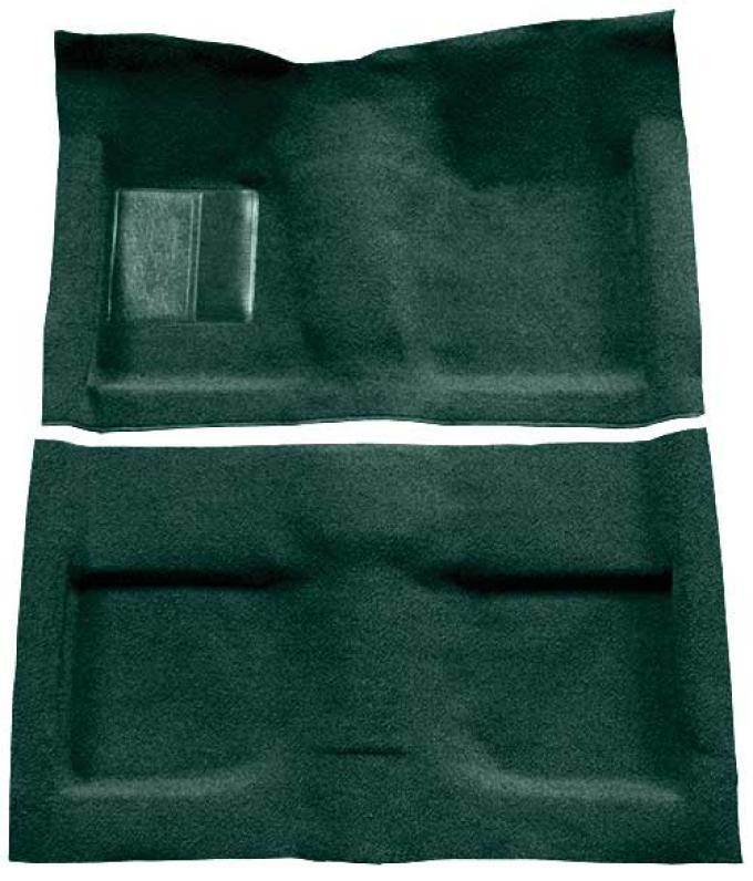 OER 1964 Mustang Convertible Passenger Area Loop Floor Carpet Set with Mass Backing - Dark Green A4032B13
