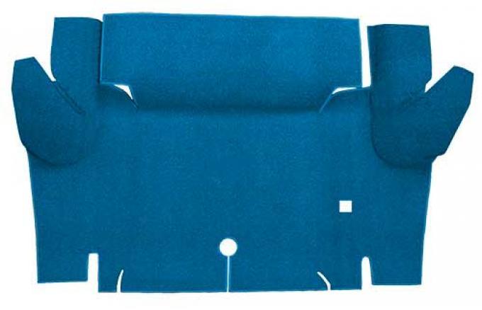 OER 1965-66 Mustang Convertible Nylon Loop Carpet Trunk Mat - Medium Blue A4069A41