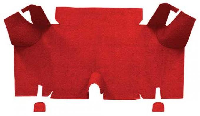 OER 1965-66 Mustang Fastback Nylon Loop Carpet Trunk Mat - Red A4073A02