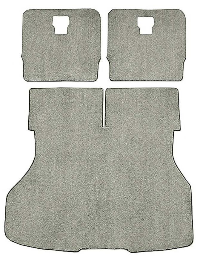 OER Mustang Hatchback Rear Cargo Area Cut Pile Carpet Set - Antelope / Neutral A4026A91