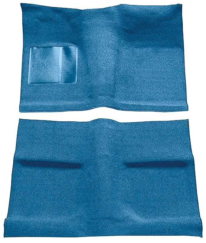 OER 1964 Mustang Coupe Passenger Area Nylon Loop Floor Carpet Set with Mass Backing - Light Blue A4031B31
