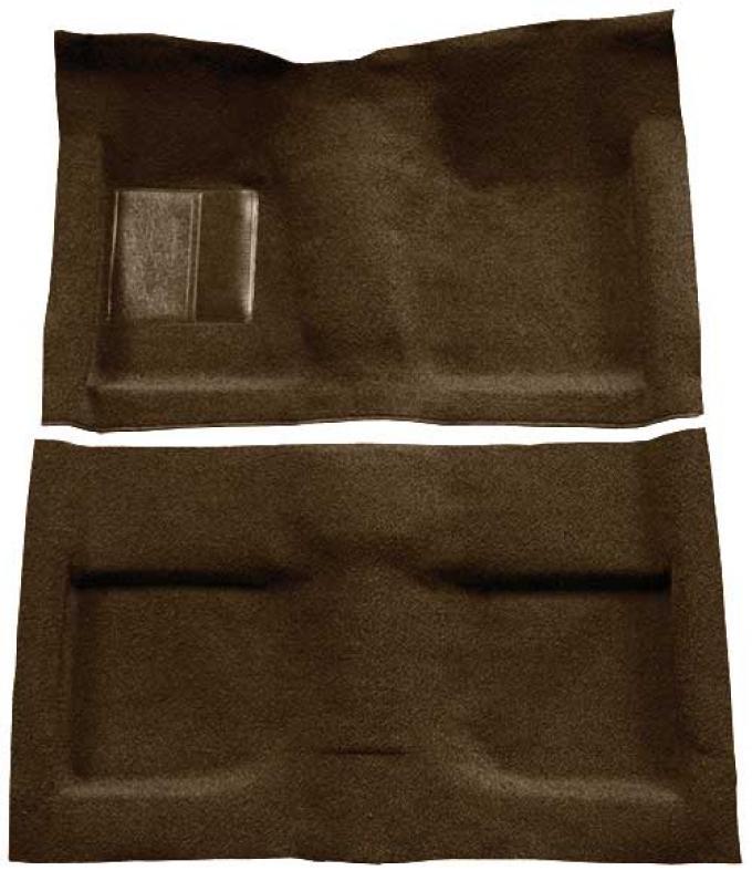OER 1964 Mustang Convertible Passenger Area Loop Floor Carpet Set - Dark Saddle A4032A18