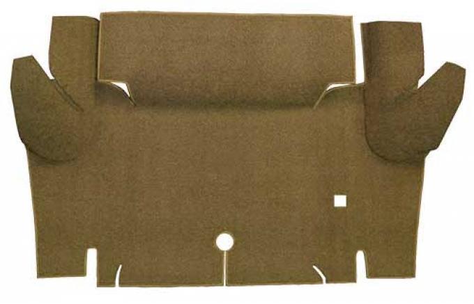OER 1965-66 Mustang Convertible Loop Carpet Trunk Floor Mat - Medium Saddle A4052A69