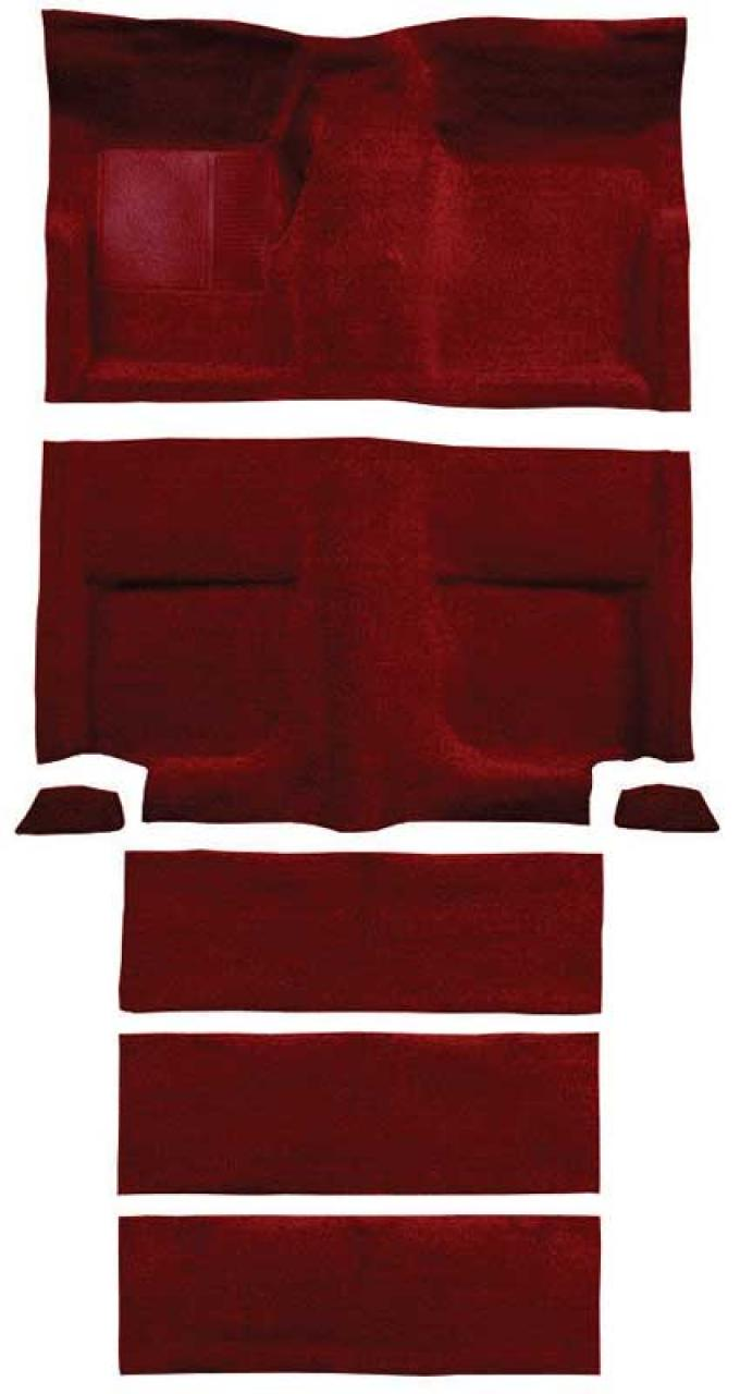 OER 1965-68 Mustang Fastback Loop Carpet with Fold Downs and Mass Backing - Emberglow A4102B49