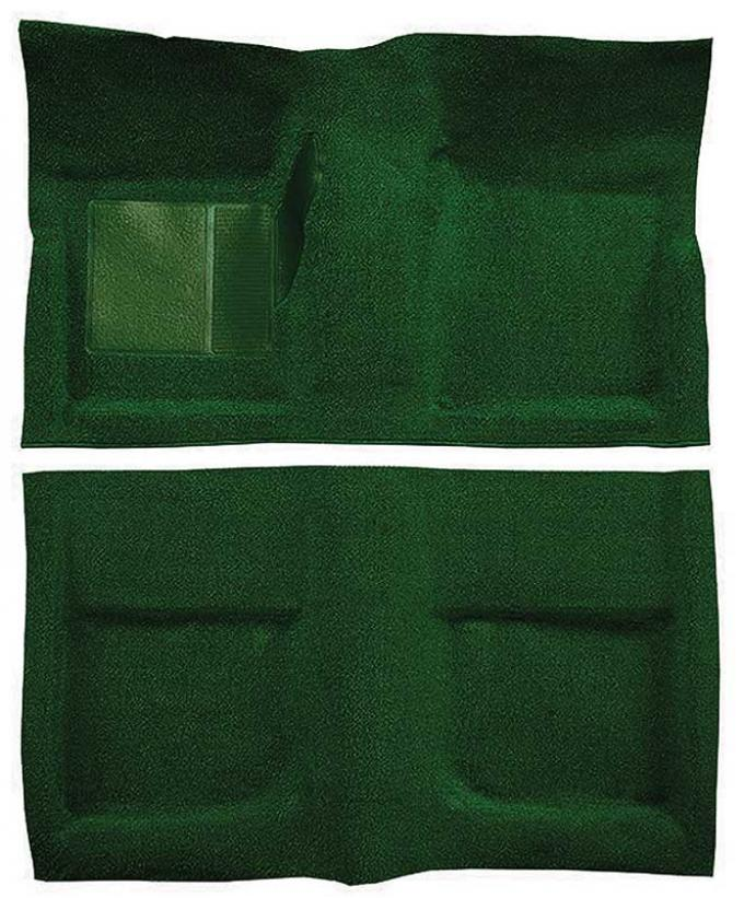 OER 1965-68 Mustang Coupe Passenger Area Nylon Loop Floor Carpet Set with Mass Backing - Green A4045B39