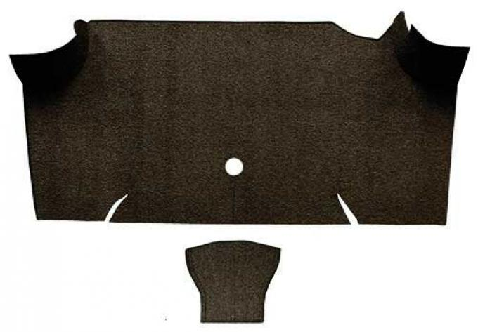 OER 1967-68 Mustang Fastback Loop Carpet Trunk Mat - Dark Brown A4068A30