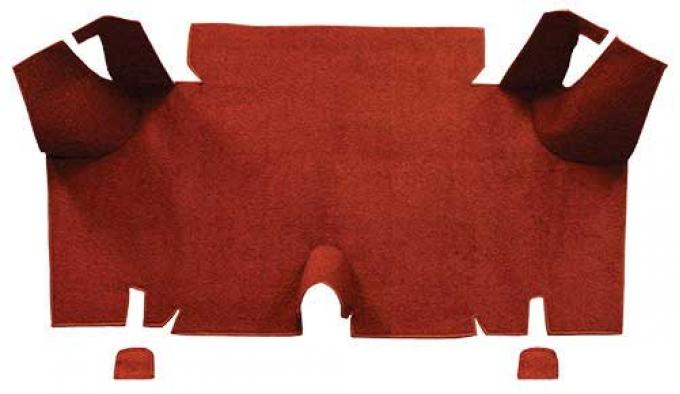 OER 1965-66 Mustang Fastback Nylon Loop Carpet Trunk Mat - Emberglow A4073A49