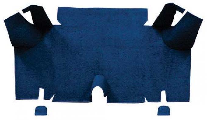 OER 1965-66 Mustang Fastback Loop Carpet Trunk Mat - Dark Blue A4056A12