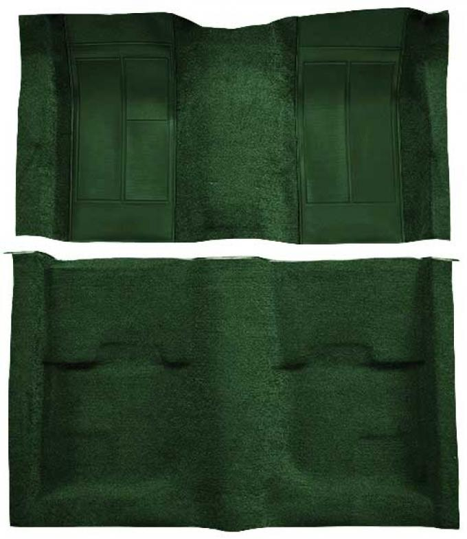OER 1970 Mustang Mach 1 Passenger Area Nylon Floor Carpet - Green with Green Inserts A4113A39