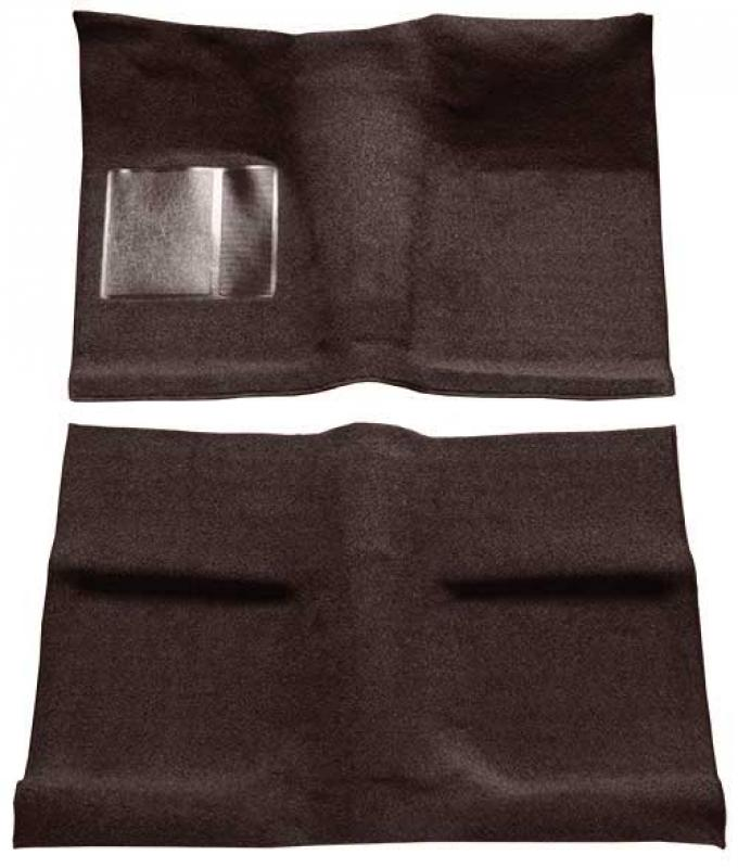 OER 1964 Mustang Coupe Passenger Area Loop Floor Carpet Set with Mass Backing - Dark Brown A4030B30