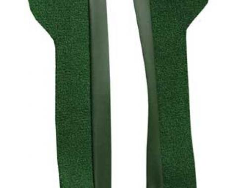 OER 1969-70 Mustang Door Panel Carpet Inserts - Green A4095A39