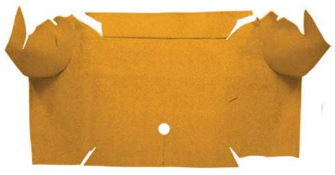 OER 1967-68 Mustang Convertible Nylon Loop Carpet Trunk Mat - Medium Saddle A4081A69