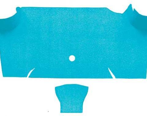 OER 1967-68 Mustang Fastback Nylon Loop Carpet Trunk Mat - Light Blue A4085A31