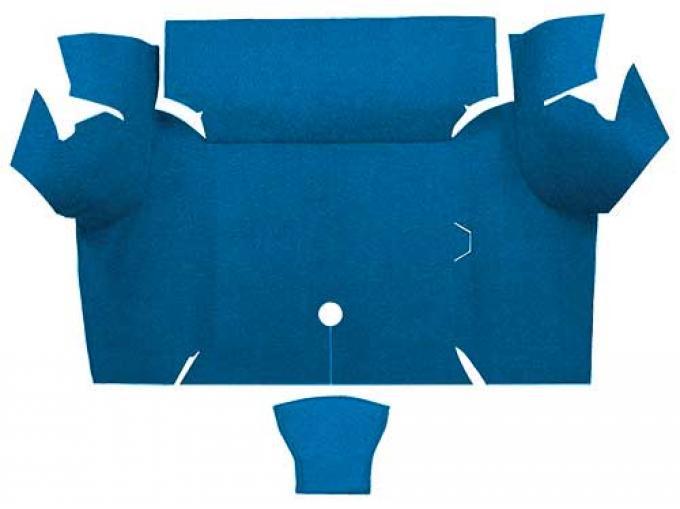 OER 1967-68 Mustang Coupe Nylon Loop Carpet Trunk Mat - Medium Blue A4077A41