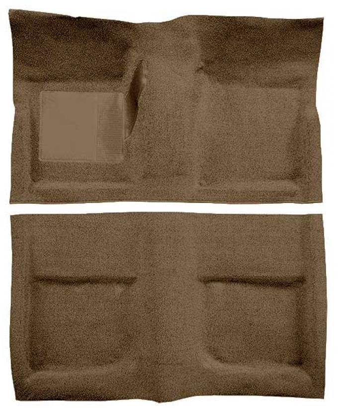 OER 1965-68 Mustang Coupe Passenger Area Loop Floor Carpet with Mass Backing - Medium Saddle A4040B69