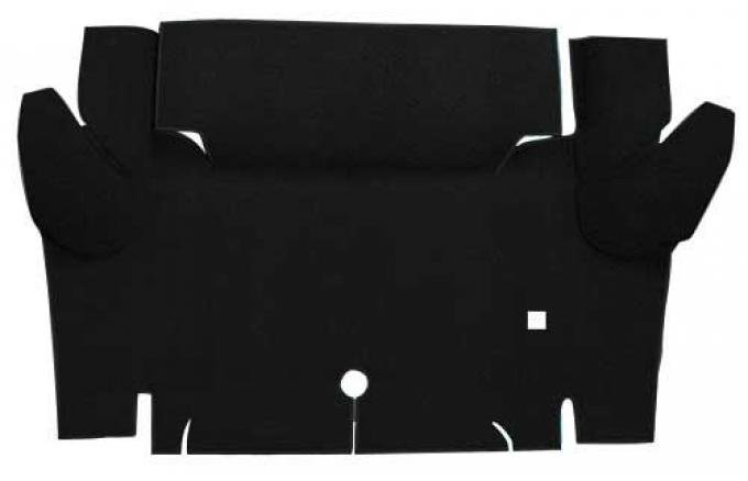OER 1965-66 Mustang Convertible Nylon Loop Carpet Trunk Mat - Black A4069A01