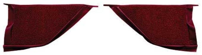 OER 1965-68 Mustang Coupe Loop Carpet Kick Panel Inserts - Maroon A4070A15