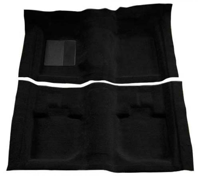 OER 1971-73 Mustang Convertible Passenger Area Nylon Loop Floor Carpet with Mass Backing - Black A4059B01